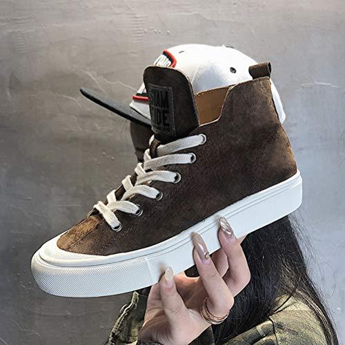 Del Otoño Cordones Plano Invierno Los Ocasionales Atar Las Zapatos De Caliente Señoras Estudiante B Fondo FTPzB