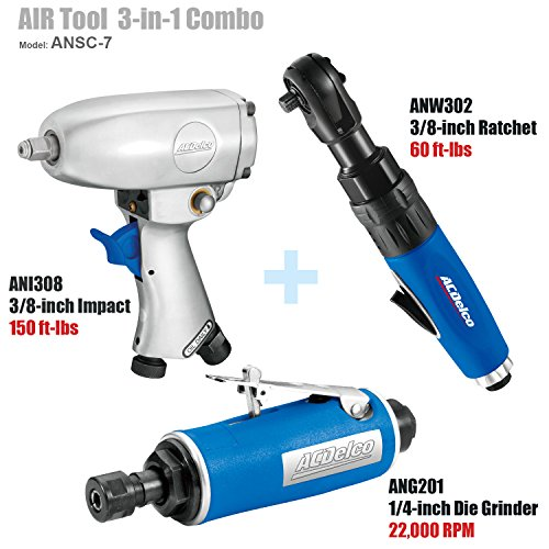 ACDelco ANSC-7 AIR Tool Combo - ANI308+ANW302+ANG201 - 3/8