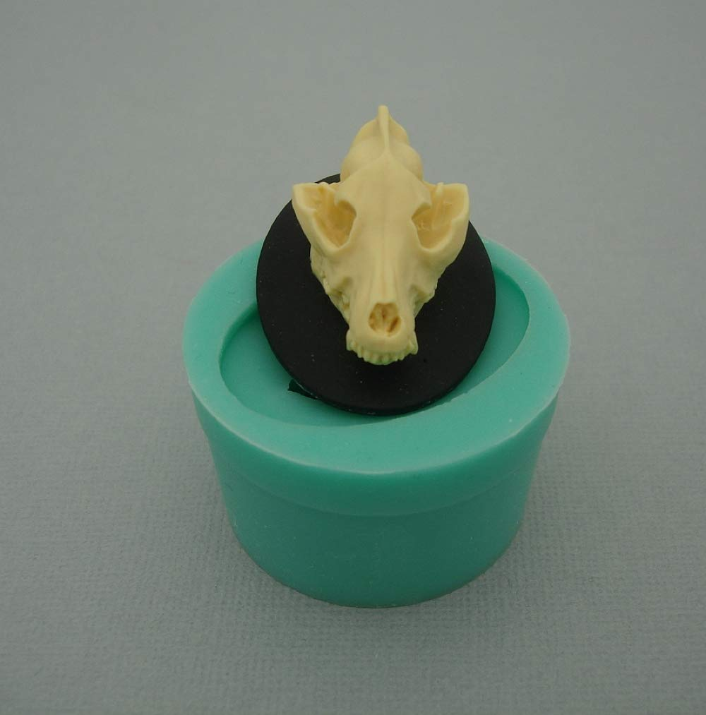 Jewelry Findings Stop Brand Silicon Mold Wolf Skull Flexible for Crafts Polymer Clay Resin Scrapbooking