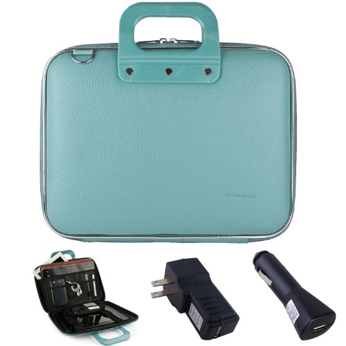 Philip Blue PU Leather Briefcase with Home & - Hp Laptop Car Mount