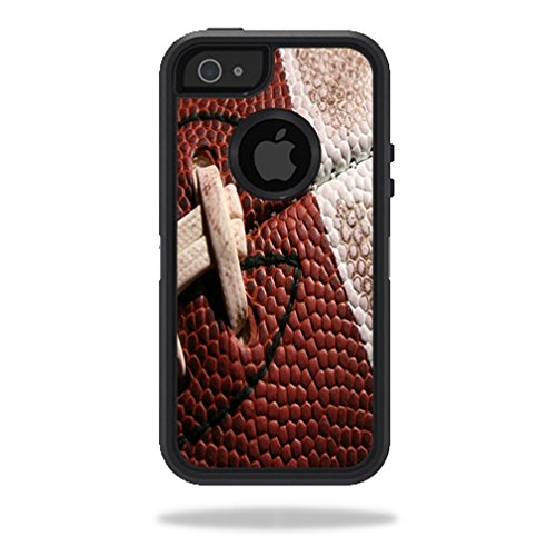 MightySkins Skin For OtterBox Defender iPhone 5s case - Football | Protective, Durable, and Unique Vinyl Decal wrap cover | Easy To Apply, Remove, and Change Styles | Made in the USA