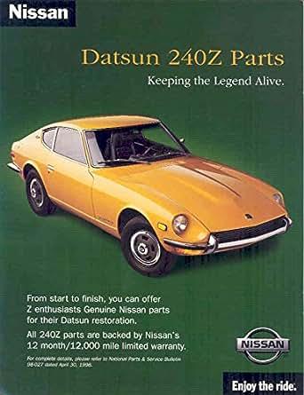 Amazon.com: 1970 1998 Datsun 240Z Nissan Brochure: Entertainment
