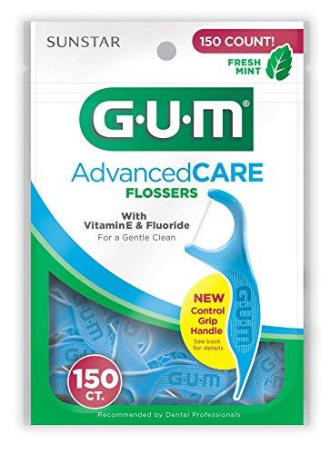 GUM Advanced Care Flossers, Fresh Mint, Vitamin E & Fluoride, 150 Count