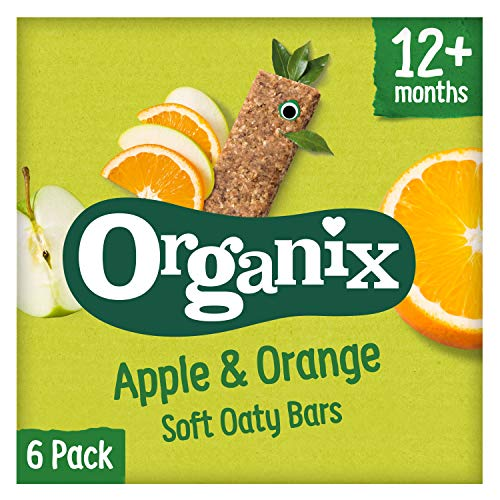 Organix Goodies 1+ Year Organic Apple and Orange Soft Oaty Bars 6 x 30 g (Pack of 6, Total 36 Bars)
