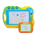 Kids Drawing Board Doodler Sketch - Hanmun 2 Pieces Colorful Screen Erasable Learning Toys for Toddlers,Travel