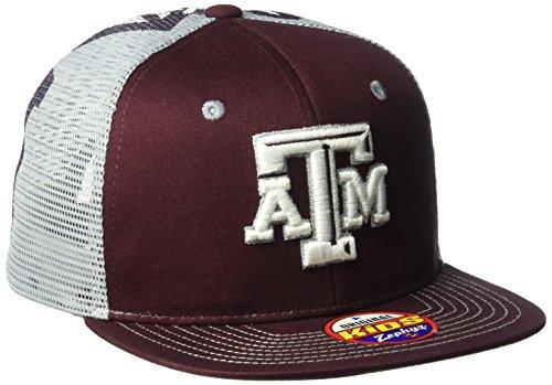 Zephyr NCAA Texas A&M Aggies Boy's Screenplay Youth Snapback Hat, Adjustable, (Maroon Kids Hat)