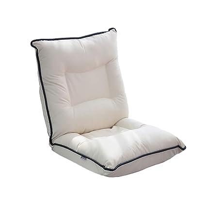 Sofá perezoso Off White Floor Chair Silla De Juego Ajustable ...