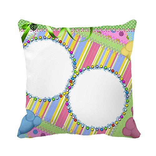 Decorativa Funda de almohada de oso de peluche verde bebé ...