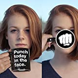 Twerp Inspirational Mug - Punch Today in the Face with Fist, 11 oz Funny Novelty Mug, Perfect Gag Gift or Hostess Gift