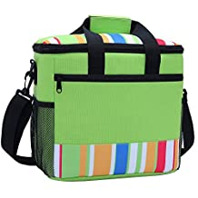 Extra Large Cool Bag, Insulated Cooler Bag with Side Pockets Travel Organizer, Waterprood Food Container Carry Bag with Strap for Outdoor Camping Picnic