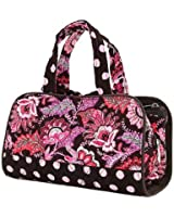 Belvah Quilted Floral 3pc. Cosmetic Tote Bag