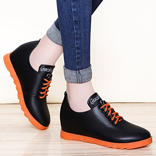 Scarpe Donna Inside Black Bianche Da amp;g Ngrdx Con Increase Casual Zeppa qXtvF