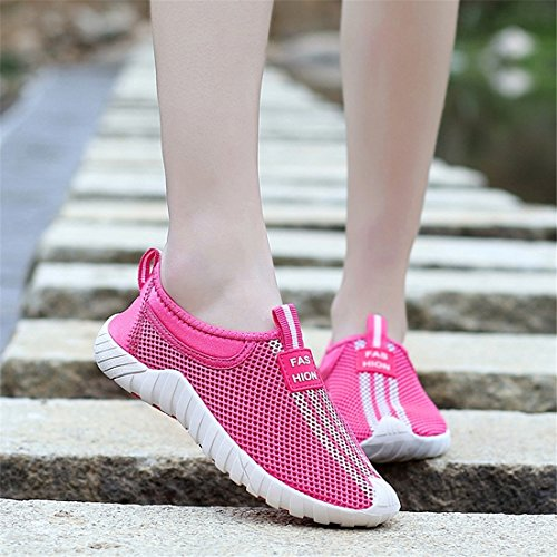 Sneakers Fashion Flyknit Running Sports Womens SEVENWELL Men Shoes Rosy Athletic Performance xAY7EFn6qw