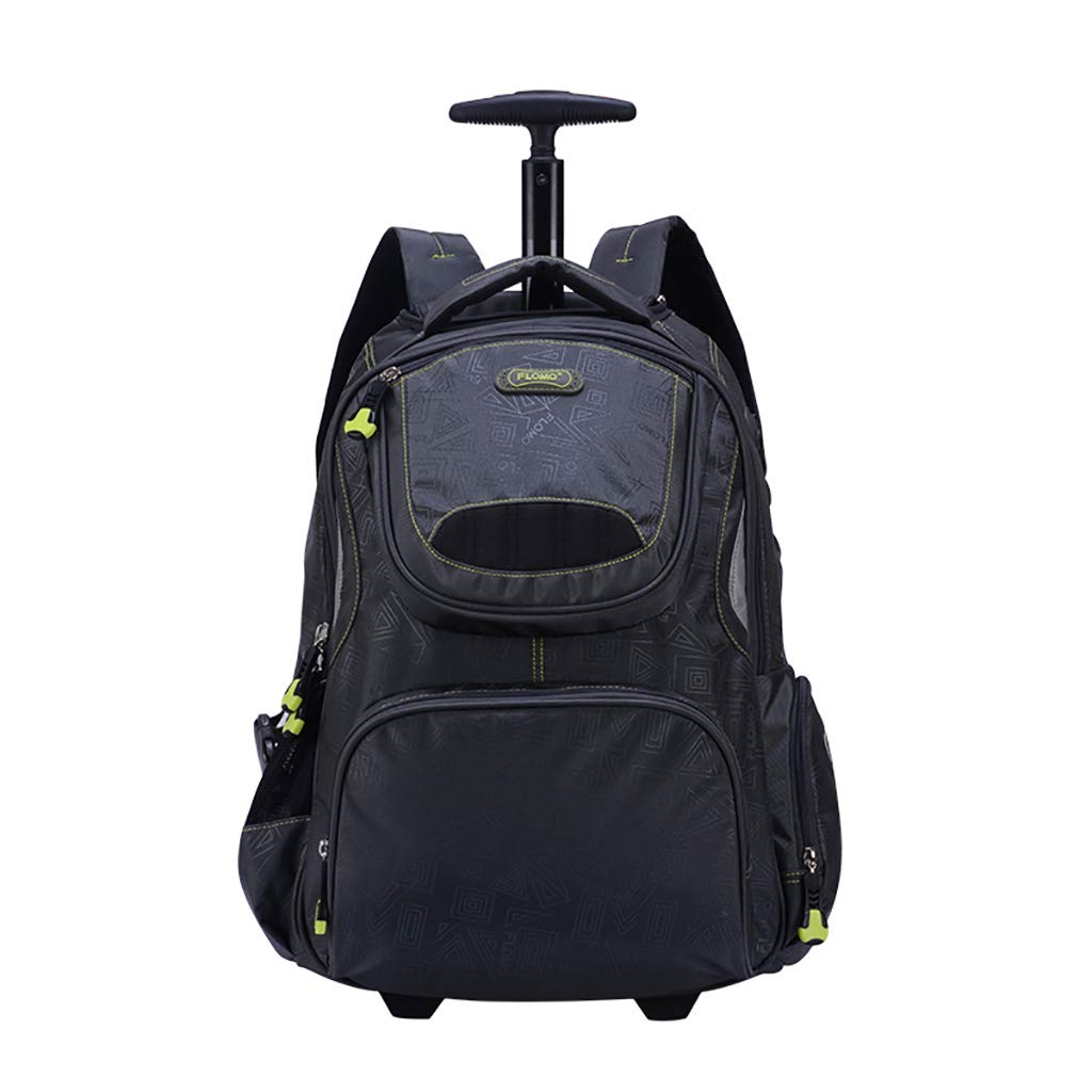 学校のラップトップバッグを旅する少年のためのトロリーバックパック大容量ストレージウィールドローリングバックパック防水旅の荷物   B07NMGDN7S