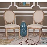 Manchester Dining Chair in Light Natural Brown Finish - Set of 2