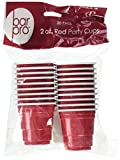 20ct Mini Red Cups 2oz Plastic Disposable Shot
