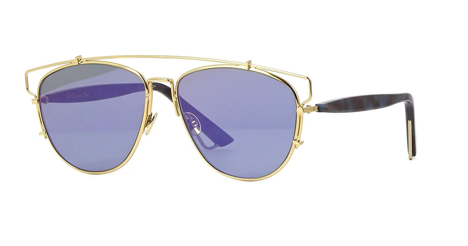 75d5c46918b Amazon.com  Authentic Christian Dior Technologic YEKSX Gold Blue Havana  Sunglasses  Clothing