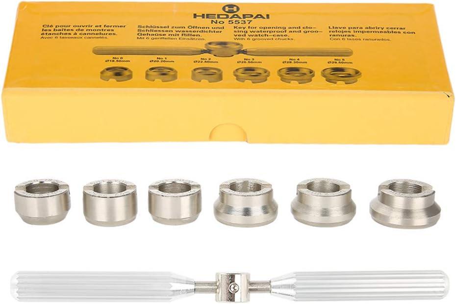Dilwe Cubierta Trasera para Reloj de Pulsera Abridor de Relojes Conjunto de Herramientas de Reparación de Relojes para Rolex Oyster