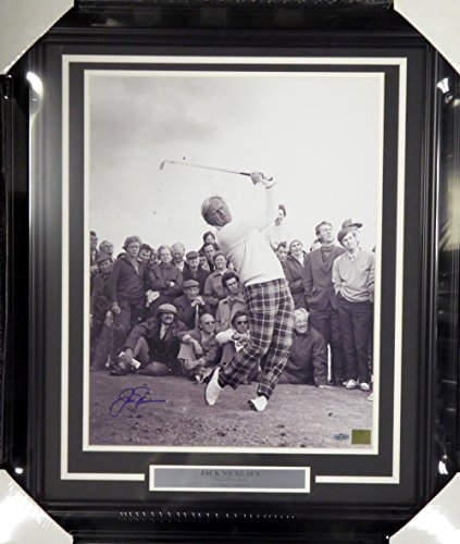 - JACK NICKLAUS AUTOGRAPHED FRAMED 16X20 PHOTO STEINER STOCK #107941