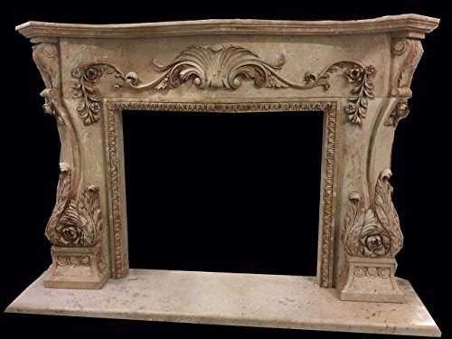 - Hand Carved Marble Fireplace Mantel