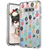 MOSNOVO Galaxy S10e Case, Cute Pineapple Pattern Clear Design Printed Transparent Plastic Hard Back Case with TPU Bumper Protective Case Cover for Samsung Galaxy S10e