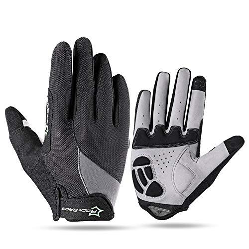 AINIYF Full Finger Gloves | Spring And Autumn Winter Full Fingers Gloves Touch Screen Anti-Slip Full Finger Motorcycle Gloves Cycling Equipment (Color : Black, Size : M) by AINIYF (Image #7)