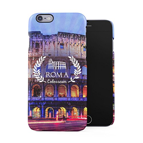 Rome Capital City Of Italy Coliseum Plastic Phone Snap On Back Case Cover Shell For iPhone 6 Plus & iPhone 6s (Pantheon Shell)