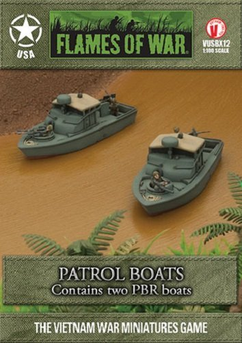 Flames of War Model Kit  Patrol PBR Boats  1 100 Scale  VUSBX12  New