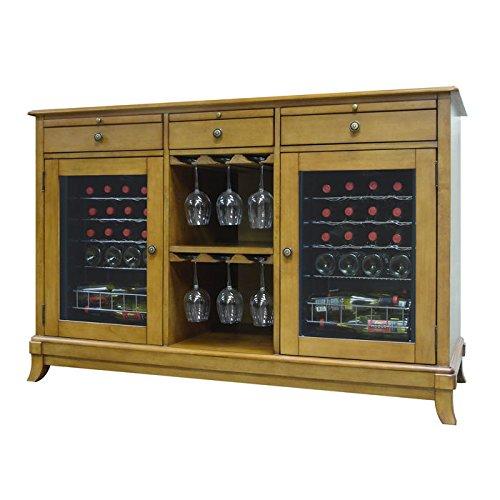 (Cava 36-Bottle Dual-Zone Thermoelectric Wine Credenza)