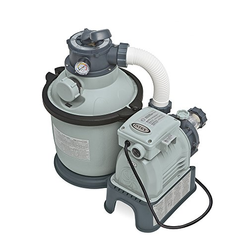 Intex Krystal Clear Sand Filter Pump for Above Ground Pools, 10-inch, 110-120V with GFCI Swimming Pool Filter Valves