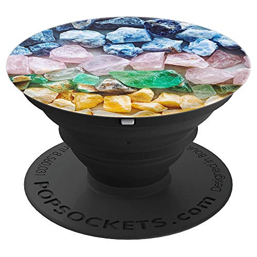 (Colored stones photo print - PopSockets Grip and Stand for Phones and Tablets )