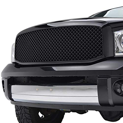 - Tidal Ram Replacement Upper Grille Mesh ABS Grill for 06-08 Dodge Ram 1500/06-09 Ram 2500/3500