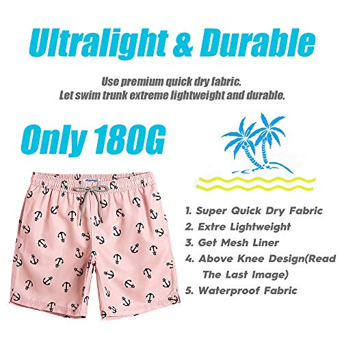 f80a4bb7ece00 MaaMgic Mens Slim Fit Quick Dry Short Swim Trunks with Mesh Lining ...