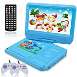 kids dvd player - WONNIE 9.5 Inch Kids Portable DVD Player for Car with Games Function, USB / SD Slot (Blue)