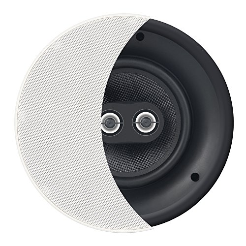 OSD ACE840TT 8'' DVC Dual Tweeter Stereo Trimless In-Ceiling/In-Wall Speaker 120W w/Titanium Coated Dome Tweeters (White, Single) by Osd Audio