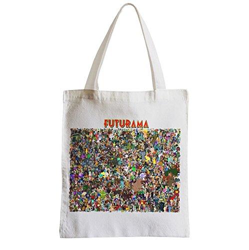 Große Tasche Sack Einkaufsbummel Strand Schüler Futurama Familie Foto