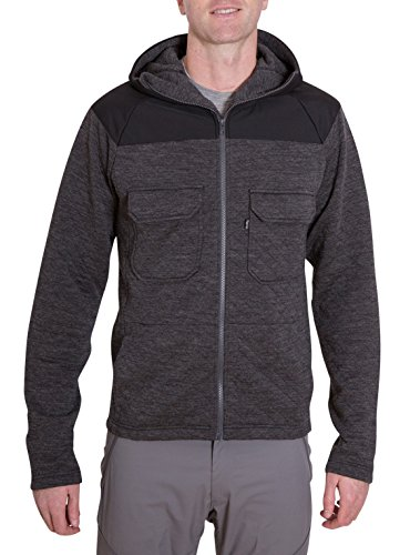 Woolly Clothing Men's Merino Wool Quilted Jacket - Heavy Weight - Wicking Breathable Anti-Odor M CHR