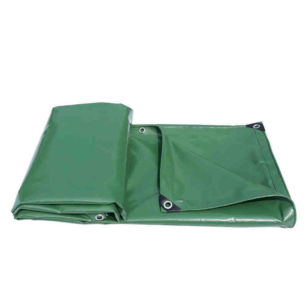 タータリン高強度厚い防水PVCトラックコンパートメント貨物ヤードヤードテント布屋外0.4 mm 520 g/m 2ダークグリーン9サイズ (サイズ さいず : 3*8M) B07D9M5D92 3*8M  3*8M