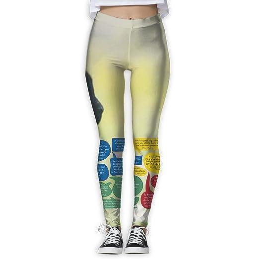 Amazon.com: JINYIPI Yoga Pants Workplace Quotes Women\'s Full ...