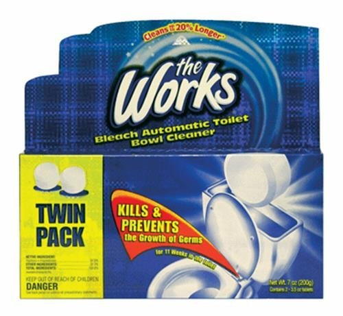 The Works Bleach Automatic Toilet Bowl Cleaner (2-Pack)