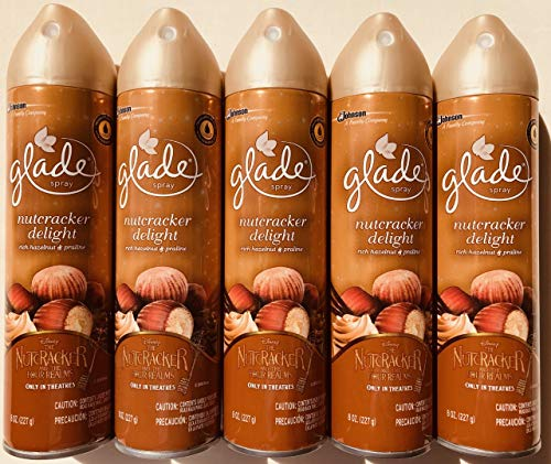 5 Glade Disney Nutcracker Delight Spray Refills Rich Hazelnut Oil & Praline 8 - Edition Limited Nutcracker
