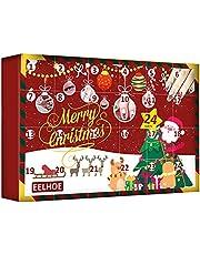 GoRIKI Kerst-countdown-adventskalender, make-up beauty-adventskalender 2021 voor meisjes en vrouwen, 24 dagen verrassingsdoos, Christmas Beauty Blind Box inclusief nailart, wimpers, stickers