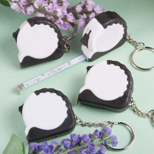 <em>Perfectly Plain Collection</em> Key Chain/Measuring Tape Favors, (Measuring Tape Keychain Favor)