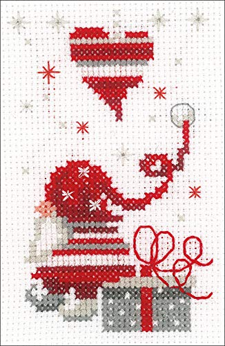 Vervaco Christmas Gnomes Cards Counted Cross-Stitch Kit