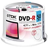 TDK data DVD-R 4.7GB 1-16 speed corresponding white wide printable 50 sheets ...