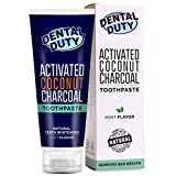 Charcoal Teeth Whitening Toothpaste - Made in USA - REMOVES BAD BREATH and TOOTH STAINS - Best Natural Tooth Whitener Product- Mint flavor.