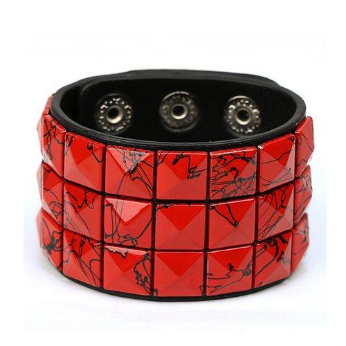 UK-S-DESIGN alta calidad cuero de síntesis del brazalete de Color de ancho