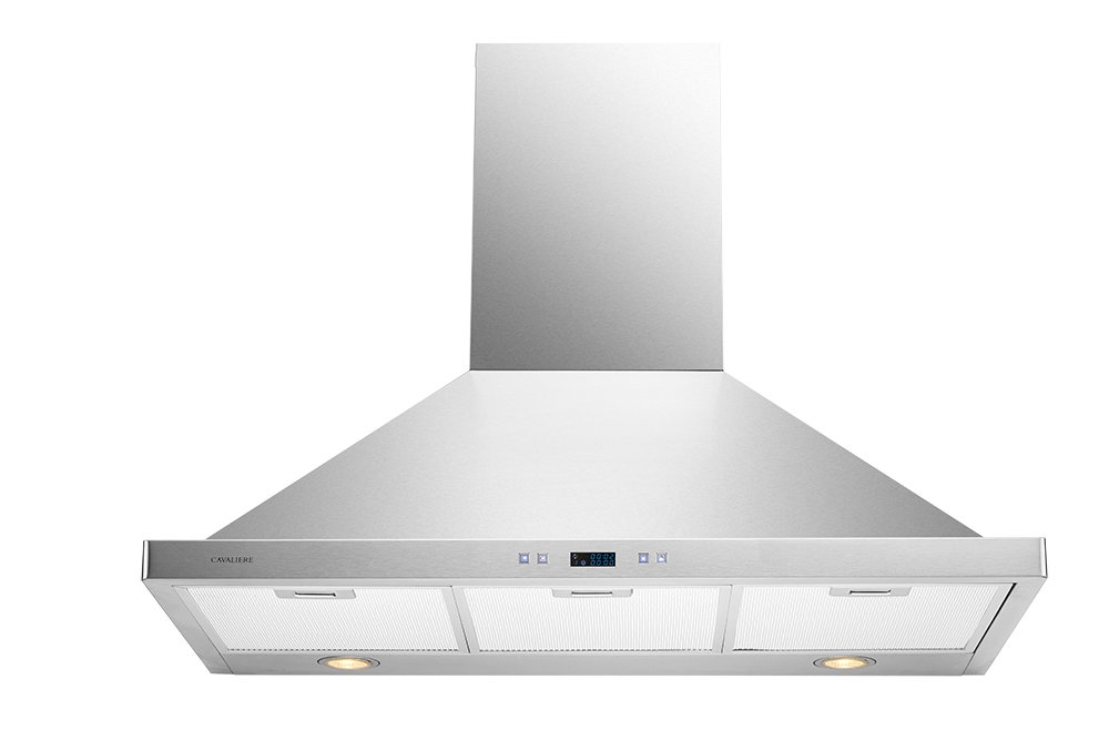 CAVALIERE 36'' Wall Mounted Stainless Steel Kitchen Range Hood 900 CFM SV218B2-36
