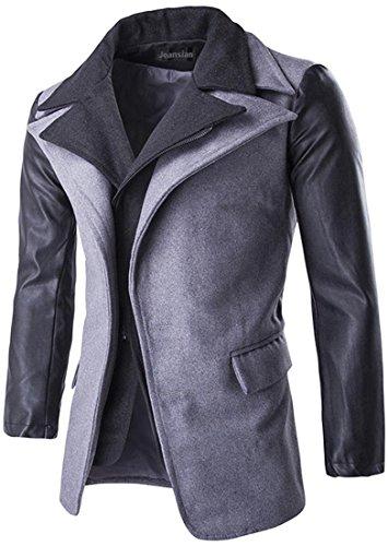 Inverno Lightgray Uomo Cappotto Moda Bella La 9553 Blazer Jeansian Gentiluomo Bilaterale Figura Ecopelle Giacca HU5wxUdOqC
