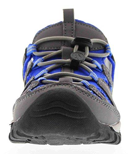 Northside Burke II Athletic Sandal Gray/Blue 1 M US Little Kid - Image 7